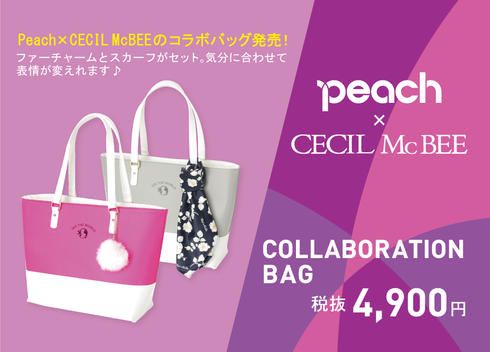 peach×CECIL McBEE COLLABORATION BAG
